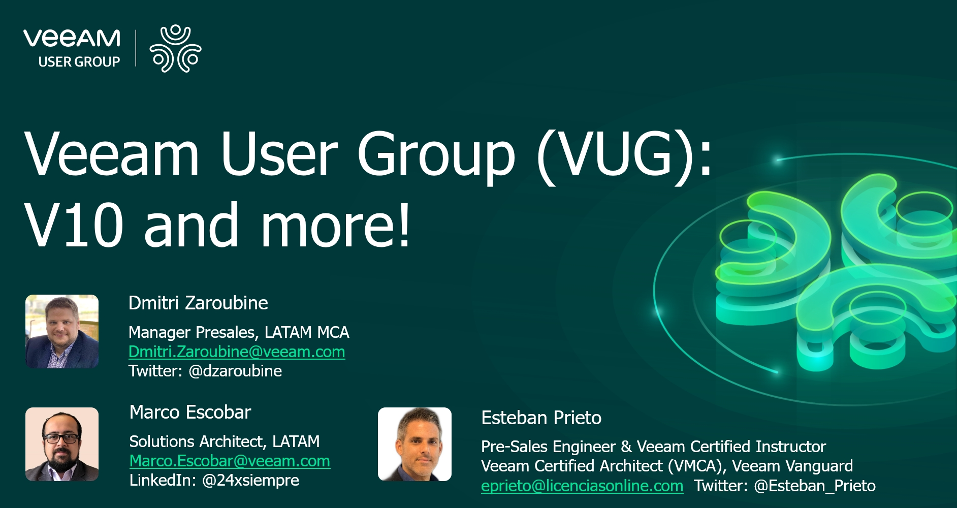 Veeam User Group - ¡Sesión exclusiva Online!