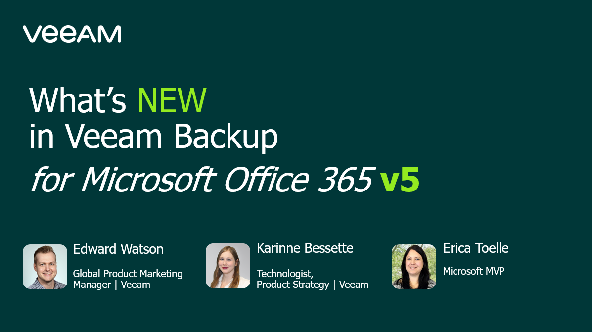 What's NEW in Veeam Backup for Microsoft Office 365 v5