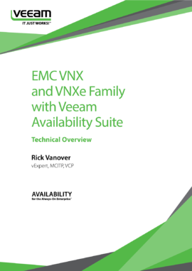 Dell EMC VNX and VNXe Family with Veeam Availability Suite