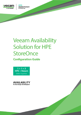 Veeam with HPE StoreOnce Catalyst Configuration Guide