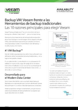 Backup VM: Veeam frente a las Herramientas de backup tradicionales