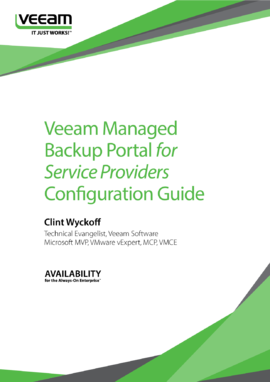 Veeam Managed Backup Portal for Service Providers Configuration Guide