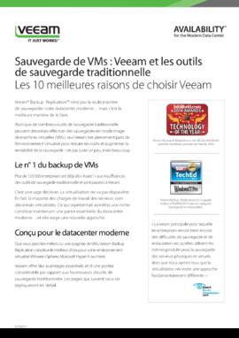 Sauvegarde de VMs : Veeam et les outils de sauvegarde traditionnelle