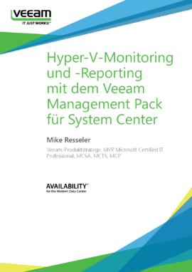 Hyper-V-Monitoring und -Reporting mit dem Veeam Management Pack für System Center