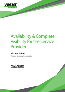 Availability & Complete Visibility for the Service Provider