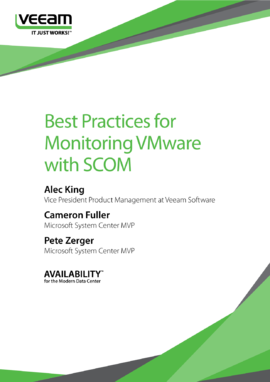 Best Practices for Monitoring VMware vSphere with SCOM