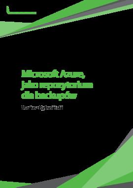 Microsoft Azure, jako repozytorium dla backupów