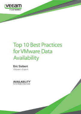 Top 10 Best Practices for VMware Data Availability