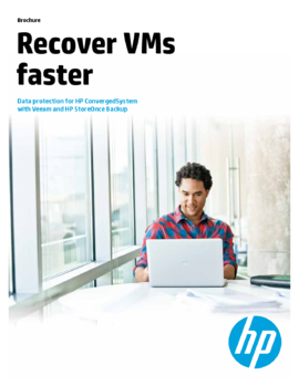 Data protection for HP ConvergedSystem with Veeam and HP StoreOnce Backup