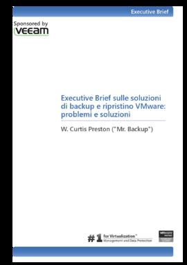 Executive Brief sulle soluzioni di backup e ripristino VMware: problemi e soluzioni