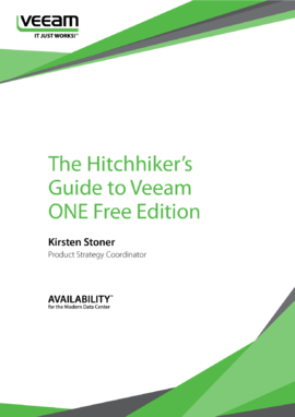 The Hitchhiker's Guide to Veeam ONE Free Edition
