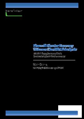Piano di Disaster Recovery VMware: Checklist Principale