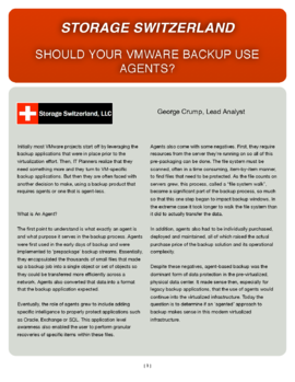 Storage Switzerland: Should Your VMware Backup Use Agents?