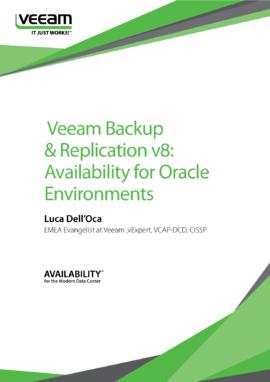 Veeam Backup & Replication v8: Availability for Oracle Environments
