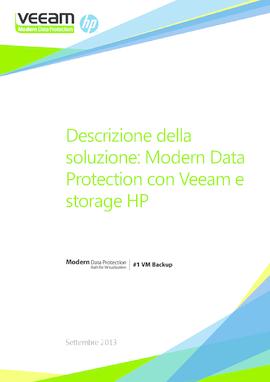 Descrizione della soluzione: Modern Data Protection con Veeam e storage HP