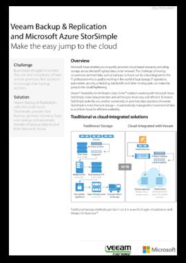 Solution Brief: Veeam, StorSimple and Microsoft Azure