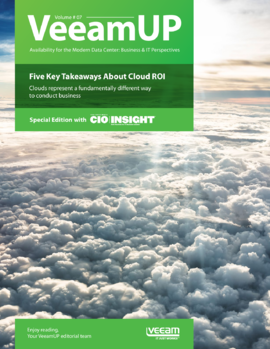 VeeamUP, Volume 7: Five Key Takeaways About Cloud ROI