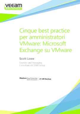 Cinque best practice per amministratori VMware: Microsoft Exchange su VMware