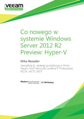 Co nowego w systemie Windows Server 2012 R2 Preview: Hyper-V