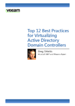 Top 12 Best Practices for Virtualizing Active Directory DCs