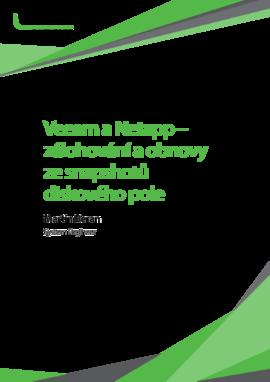 Veeam a Netapp – zálohování a obnovy ze snapshotů diskového pole